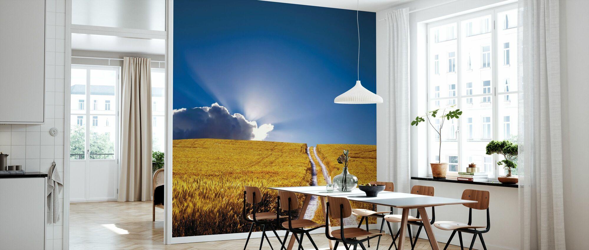 Landschap aanzicht - Behang - Keuken