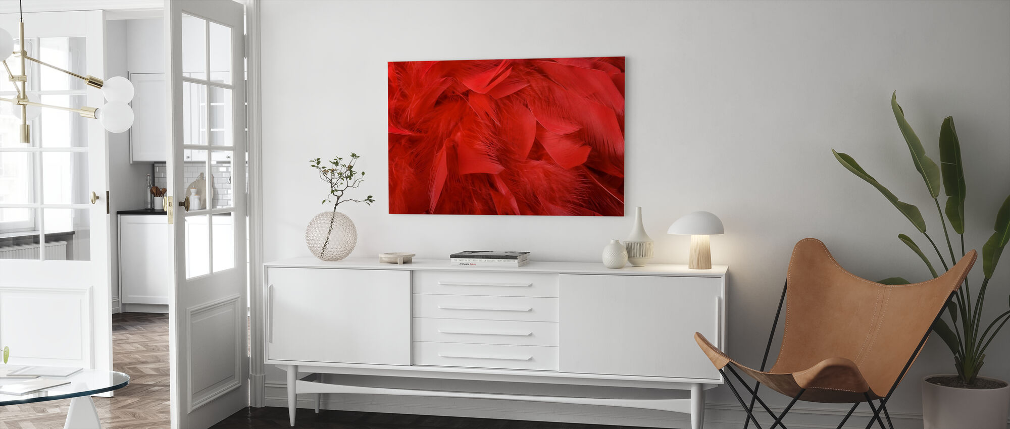 Rode Veren - Canvas print - Woonkamer