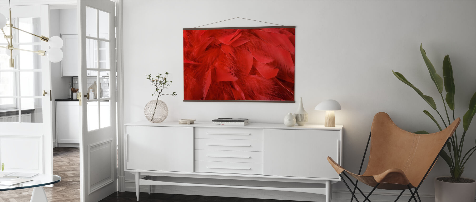 Red Feathers - Poster - Living Room