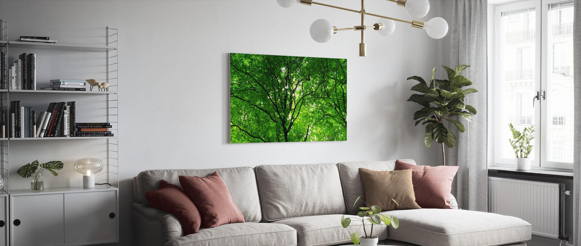 Groene Bos in het voorjaar - Canvas print - Woonkamer