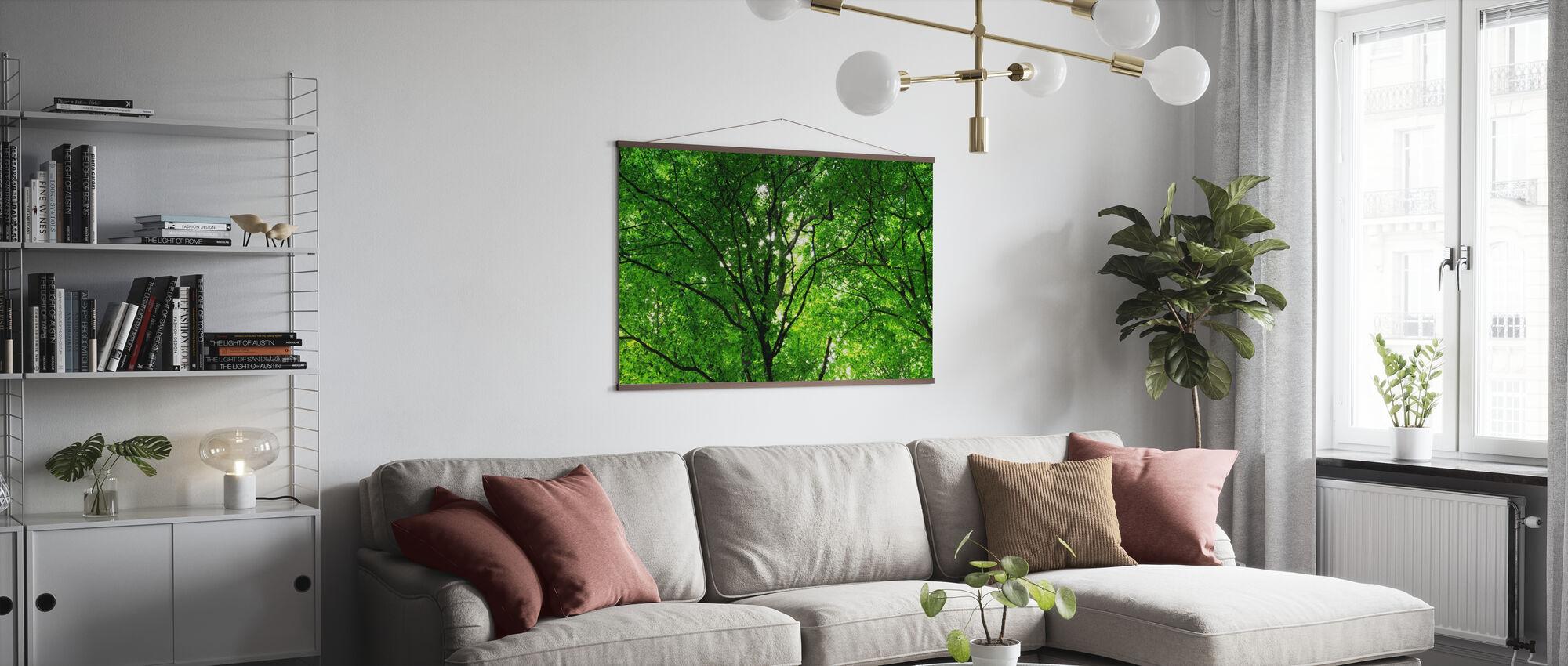 Grüner Wald im Frühling - Poster - Wohnzimmer