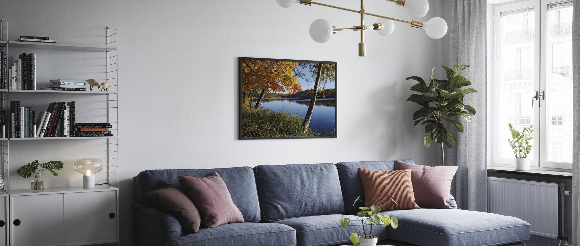 Autumn Lake - Framed print - Living Room