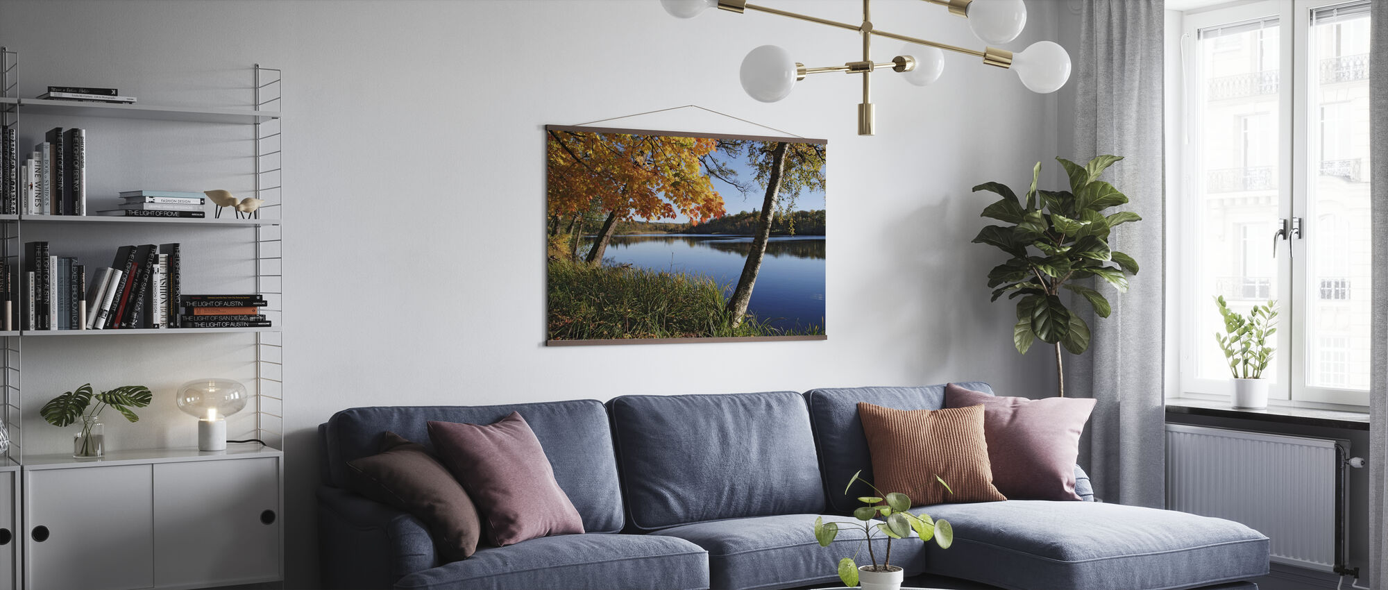 Syksyn järvi - Juliste - Olohuone