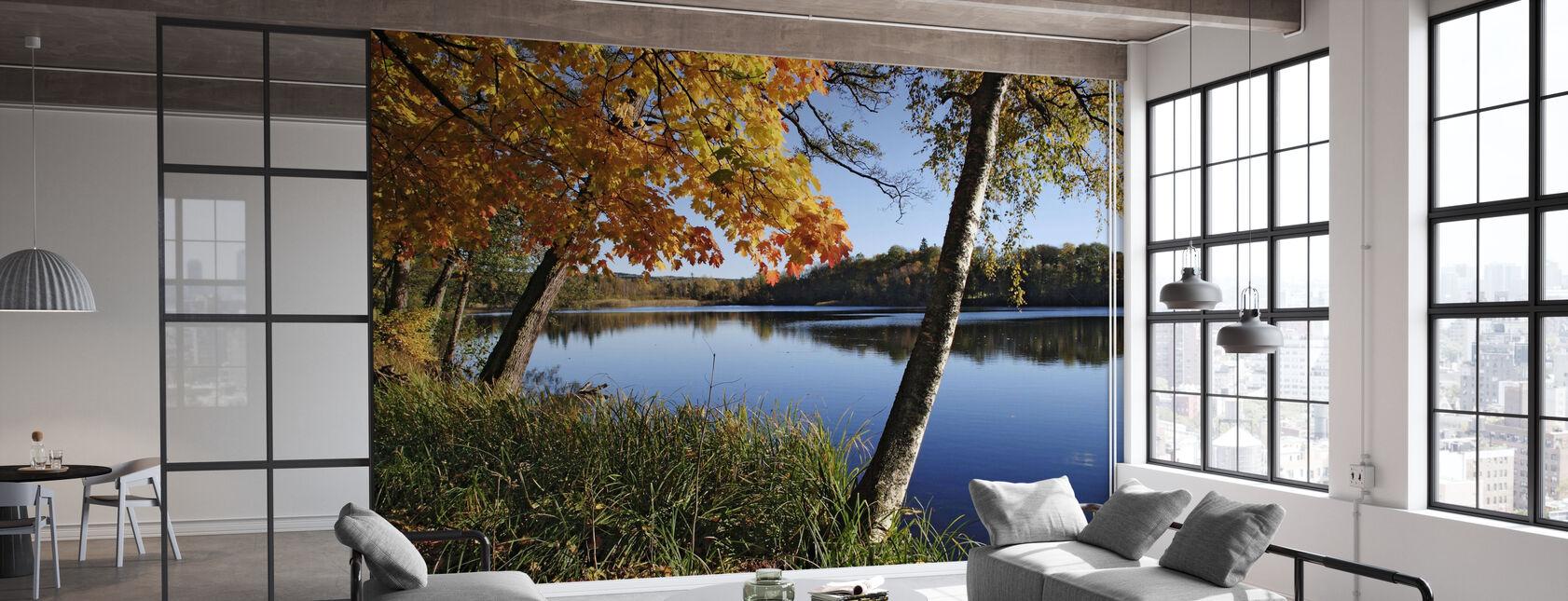 Autumn Lake - Wallpaper - Office
