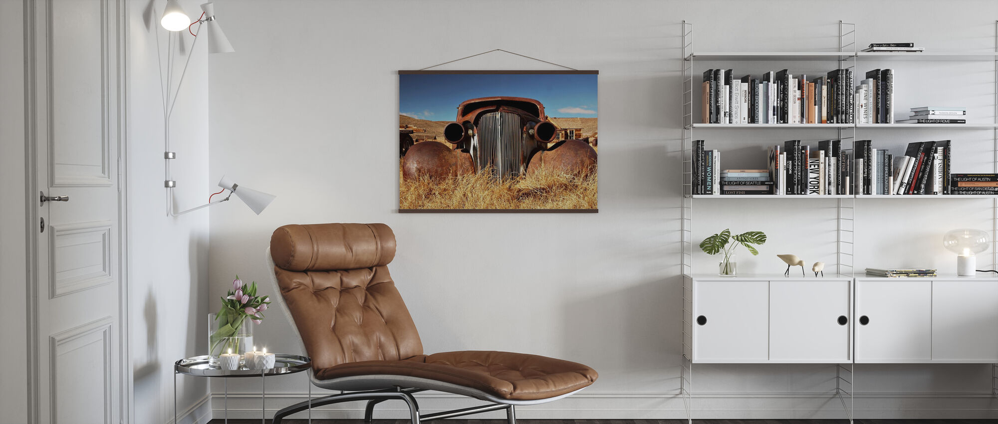 Car abandoned in the 1930's - Poster - Living Room