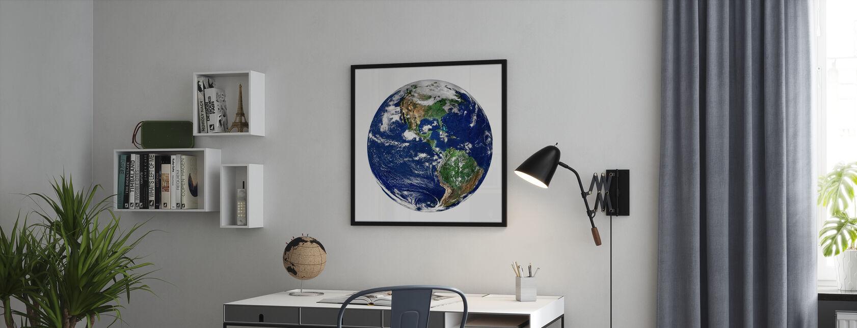 Globe - Impression encadree - Bureau