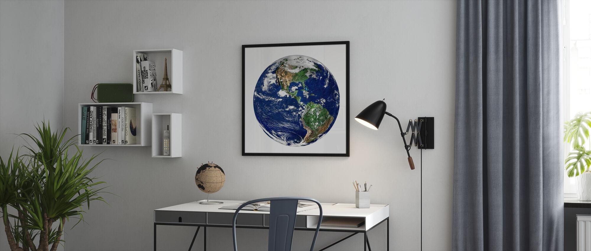 Maapallo - Kehystetty kuva - Toimisto