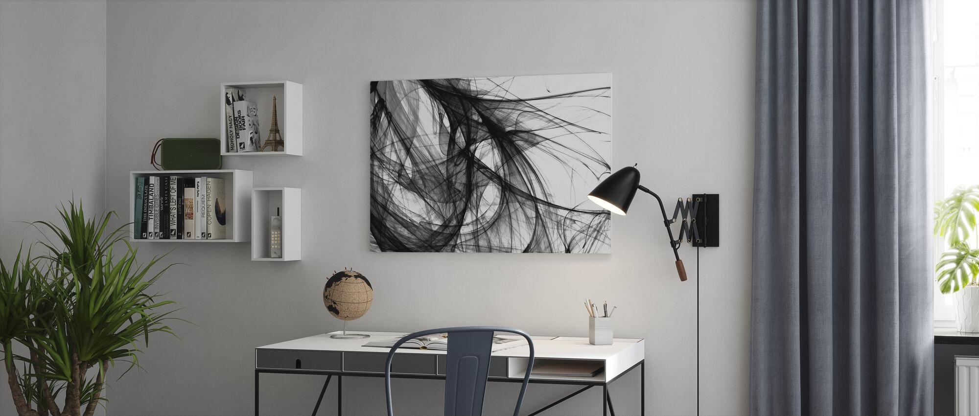 Innerlijk licht - z/w - Canvas print - Kantoor