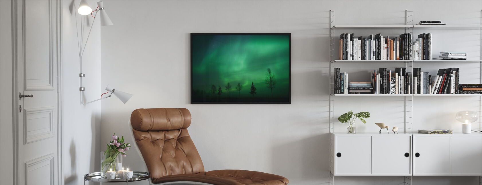 Nordic Lichten - Ingelijste print - Woonkamer