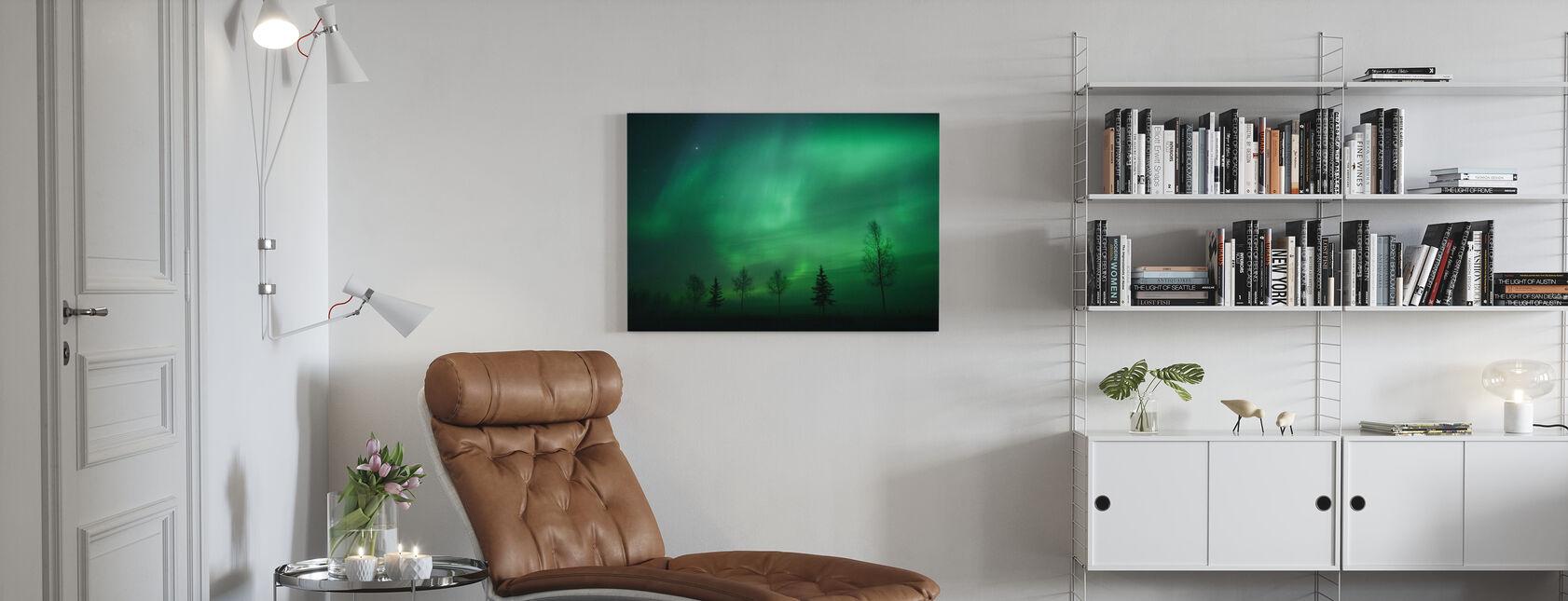 Nordic Lights - Obraz na płótnie - Pokój dzienny