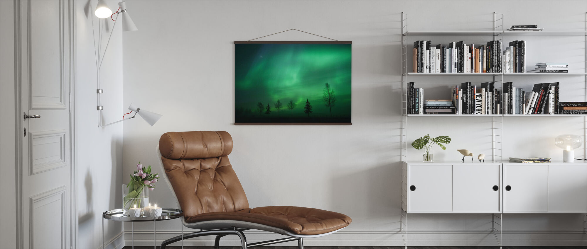 Nordic Lights - Poster - Living Room
