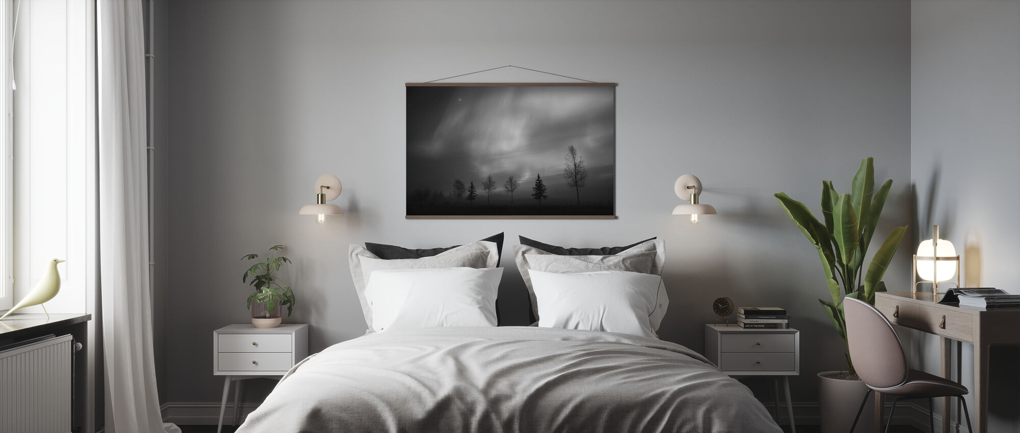 Nordic Lights - Poster - Bedroom