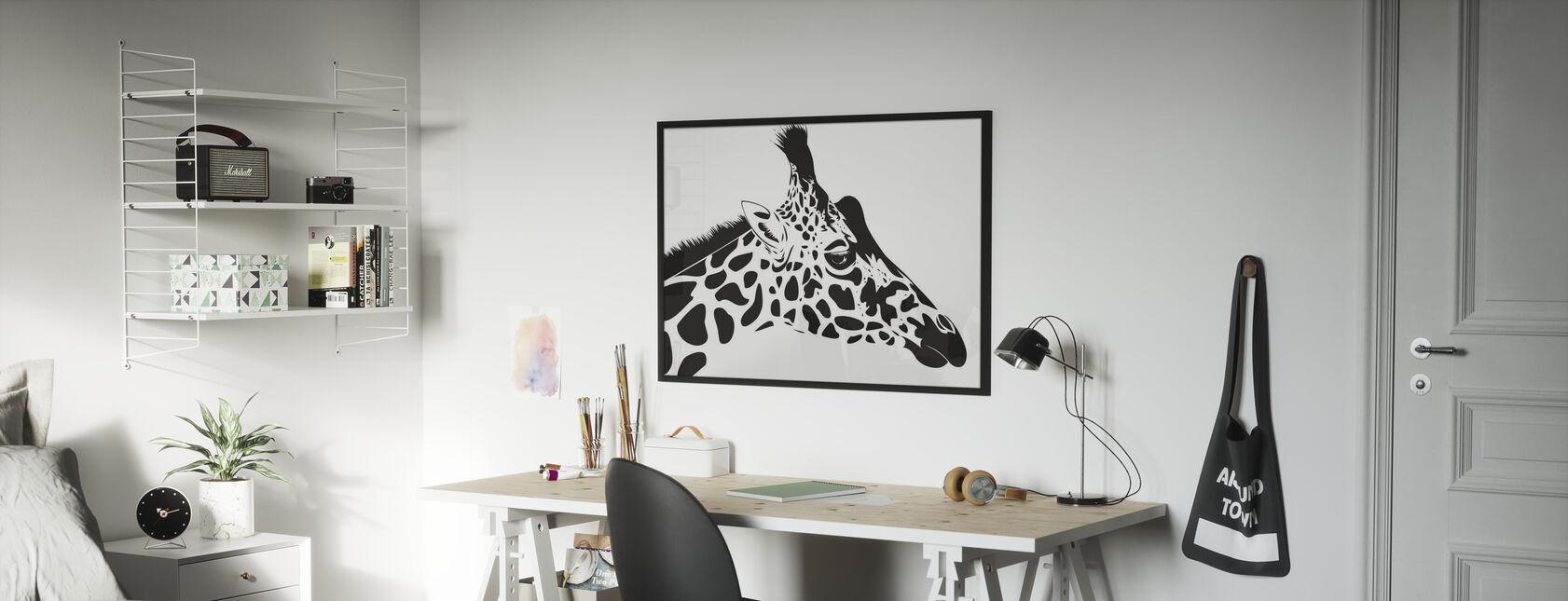 Giraffa - Stampa incorniciata - Camera dei bambini
