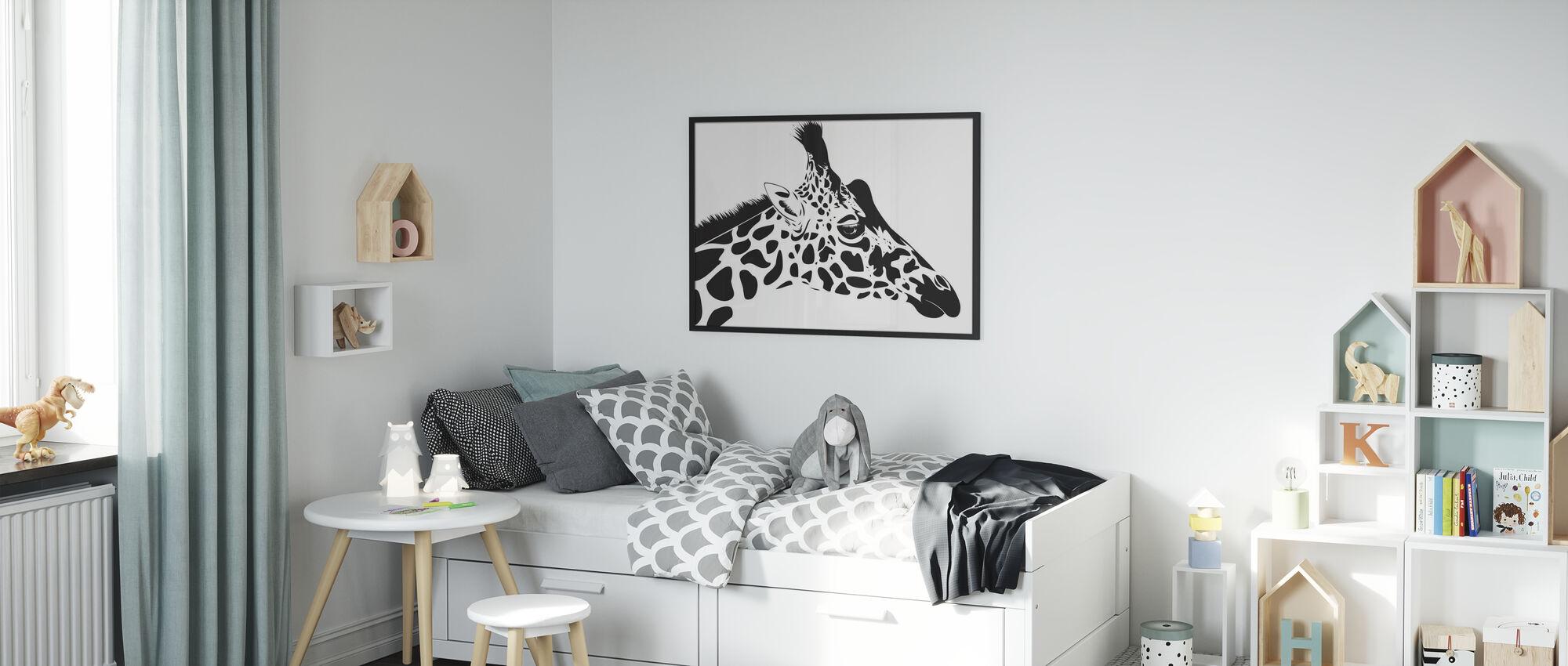 Girafe - Affiche - Chambre des enfants