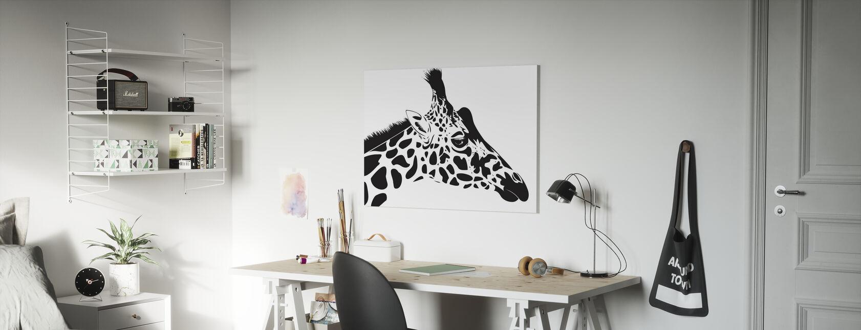 Girafe - Impression sur toile - Chambre des enfants