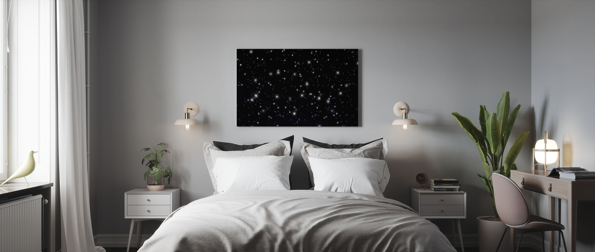 Starry Space - Canvastavla - Sovrum