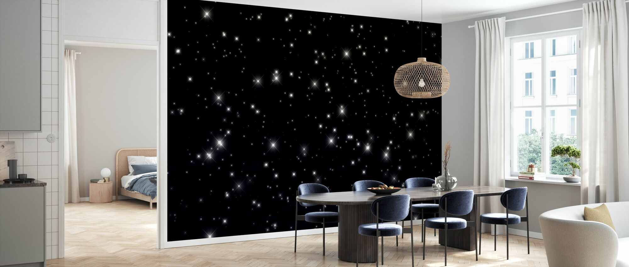 Starry Space - Wallpaper - Kitchen