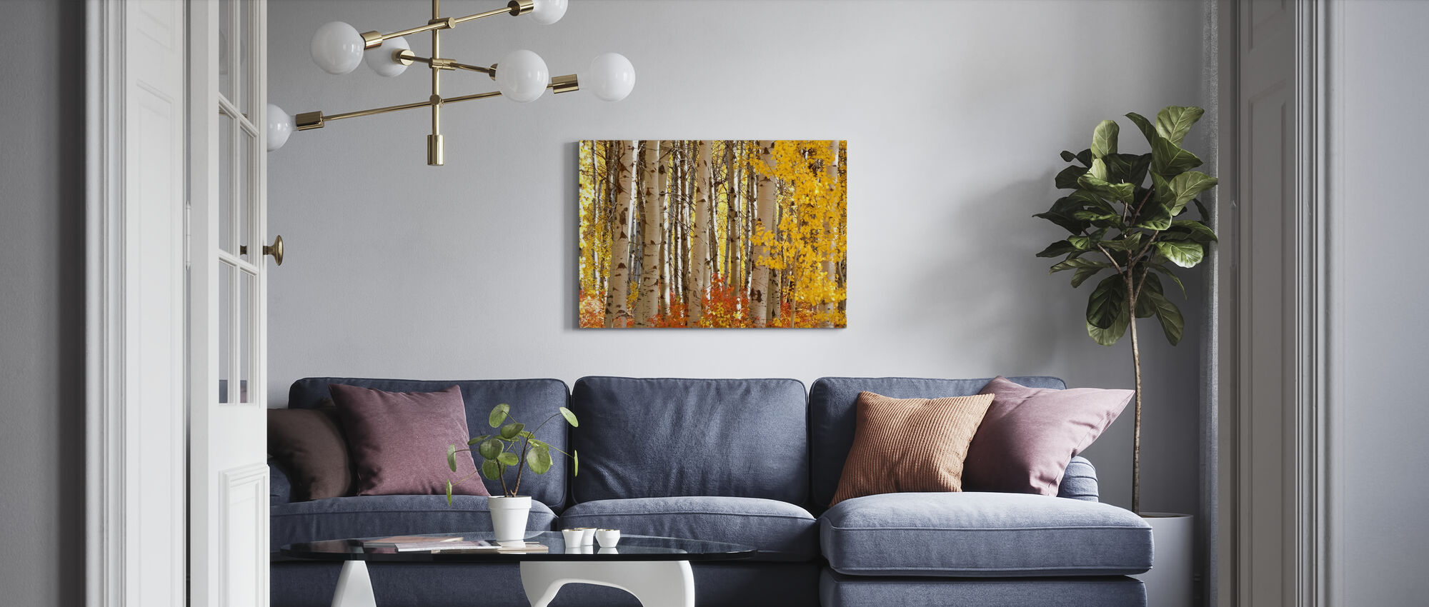 Cascade Loop - Canvas print - Living Room