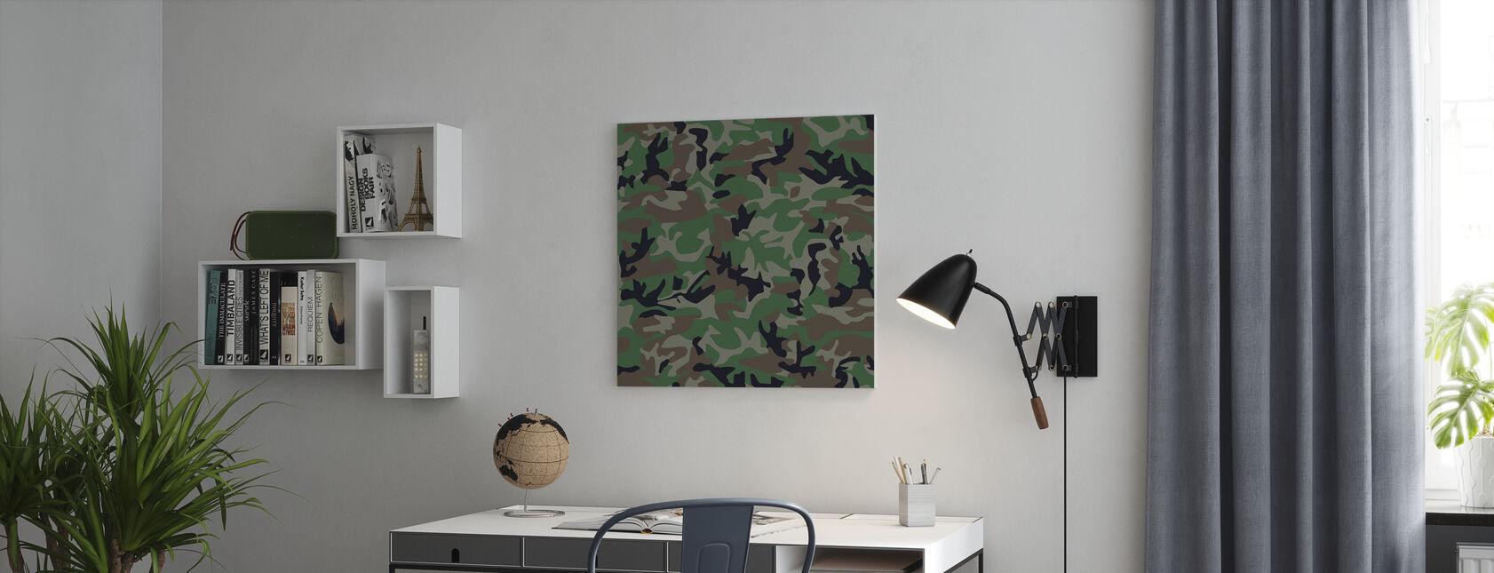 Camouflage - Canvas print - Kantoor