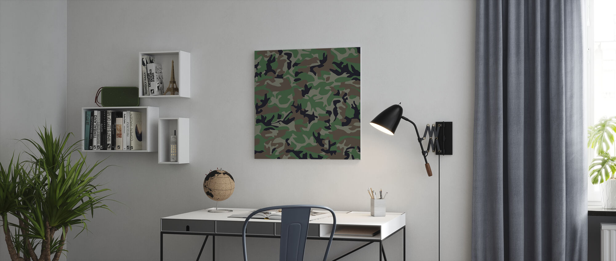 Camouflage - Canvas print - Office
