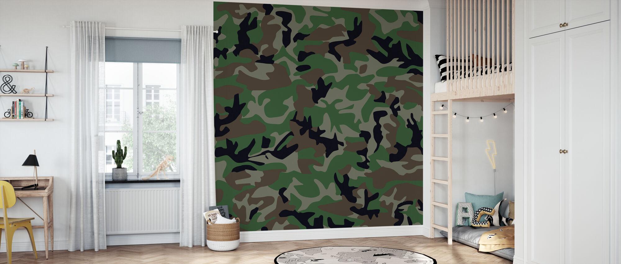 Camouflage - Wallpaper - Kids Room