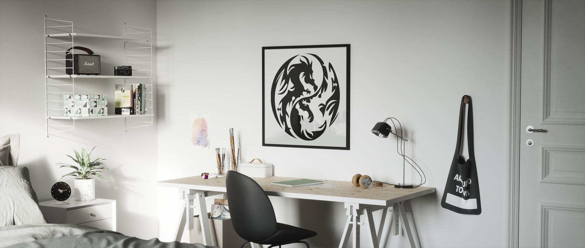 Circle Dragons - Poster - Kids Room