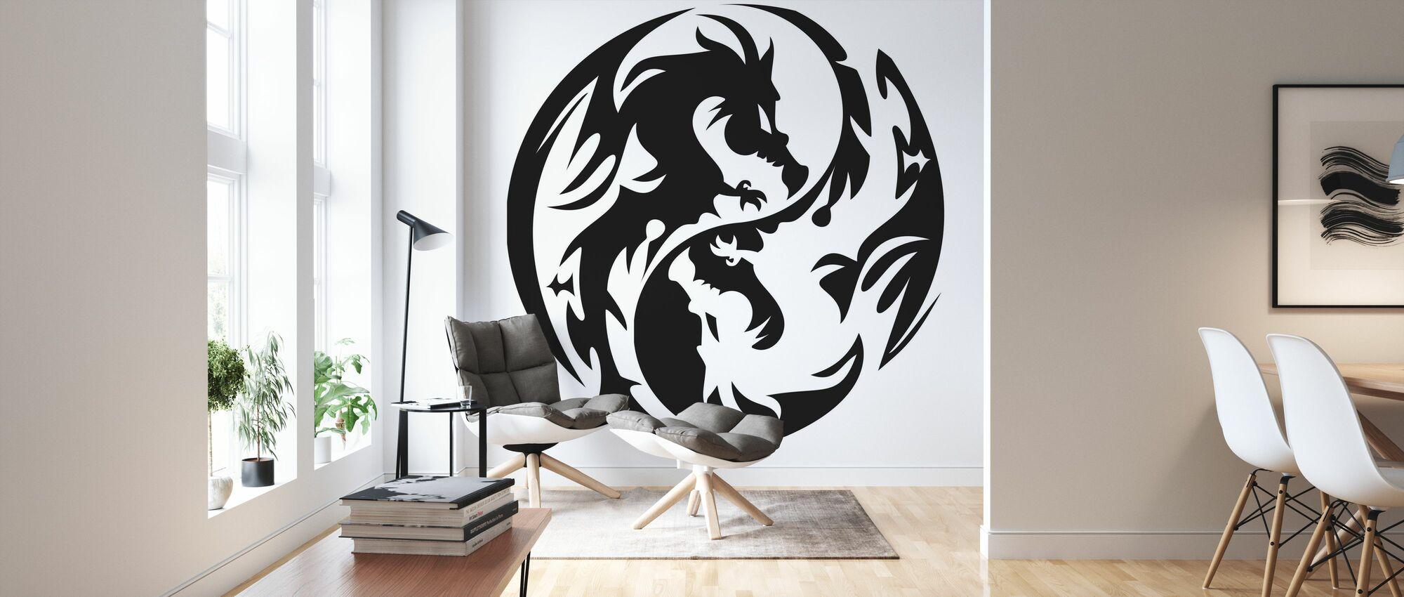 Cercle Dragons - Papier peint - Salle à manger