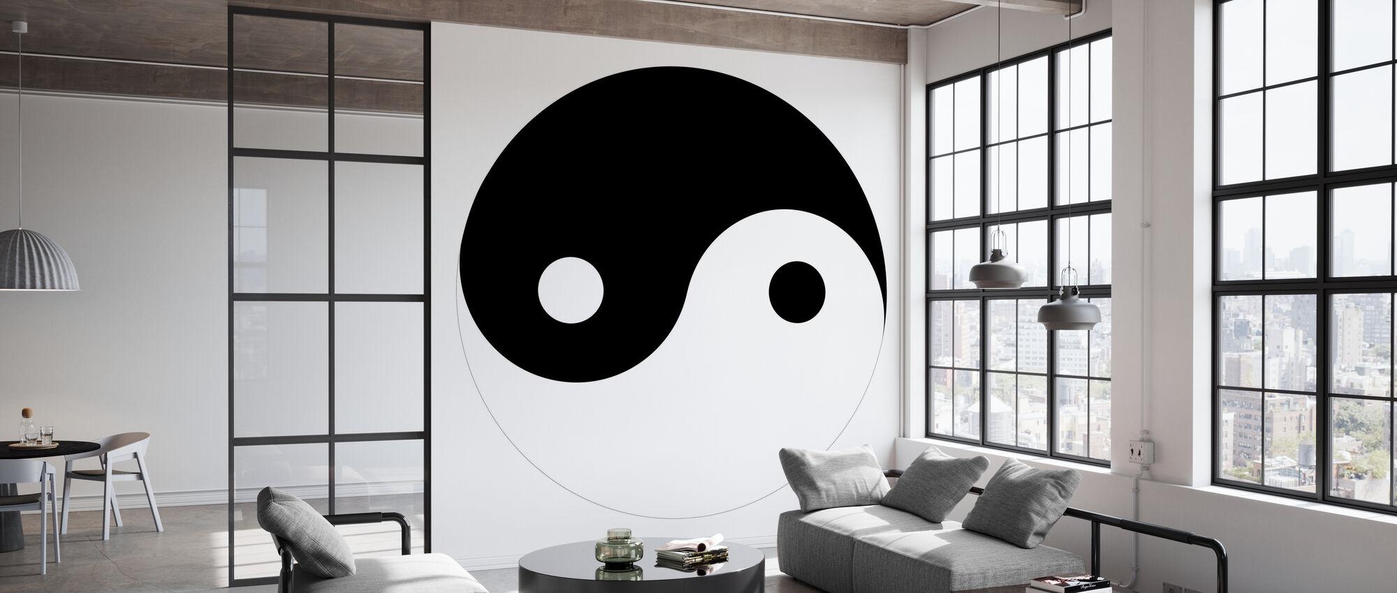 Yin-Yang - Behang - Kantoor