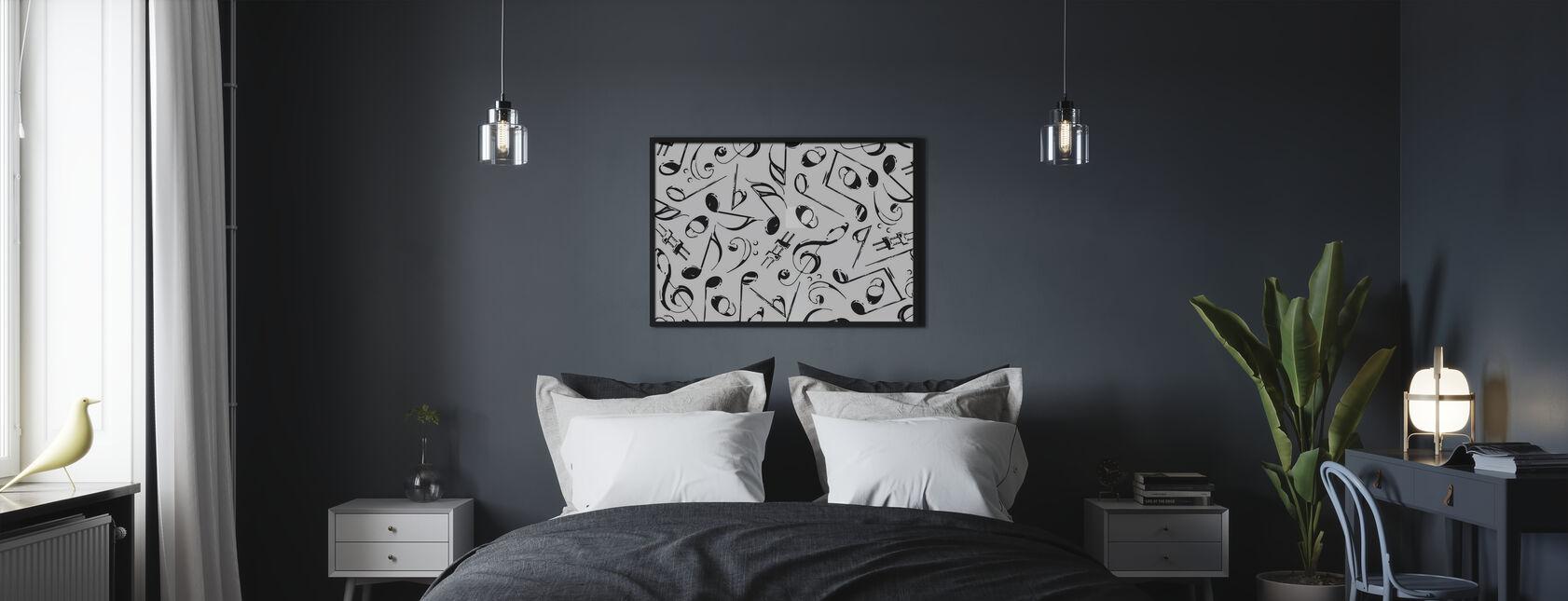 Grunge Musical Notes - Poster - Bedroom
