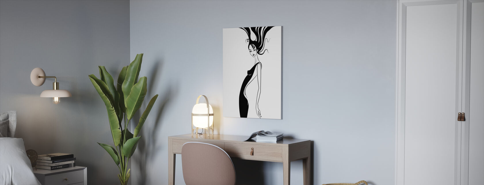 Retro Glamour - Canvas print - Office