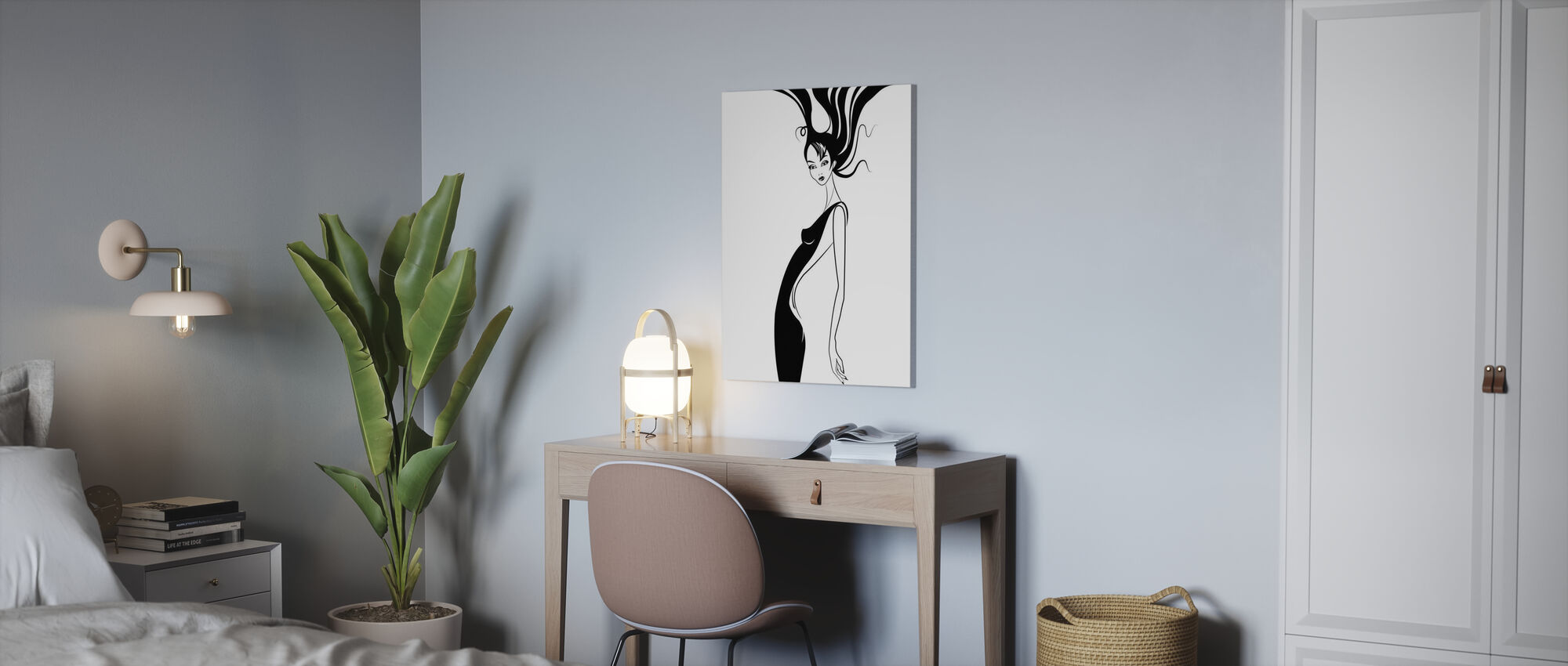 Retro Glamour - Impression sur toile - Bureau