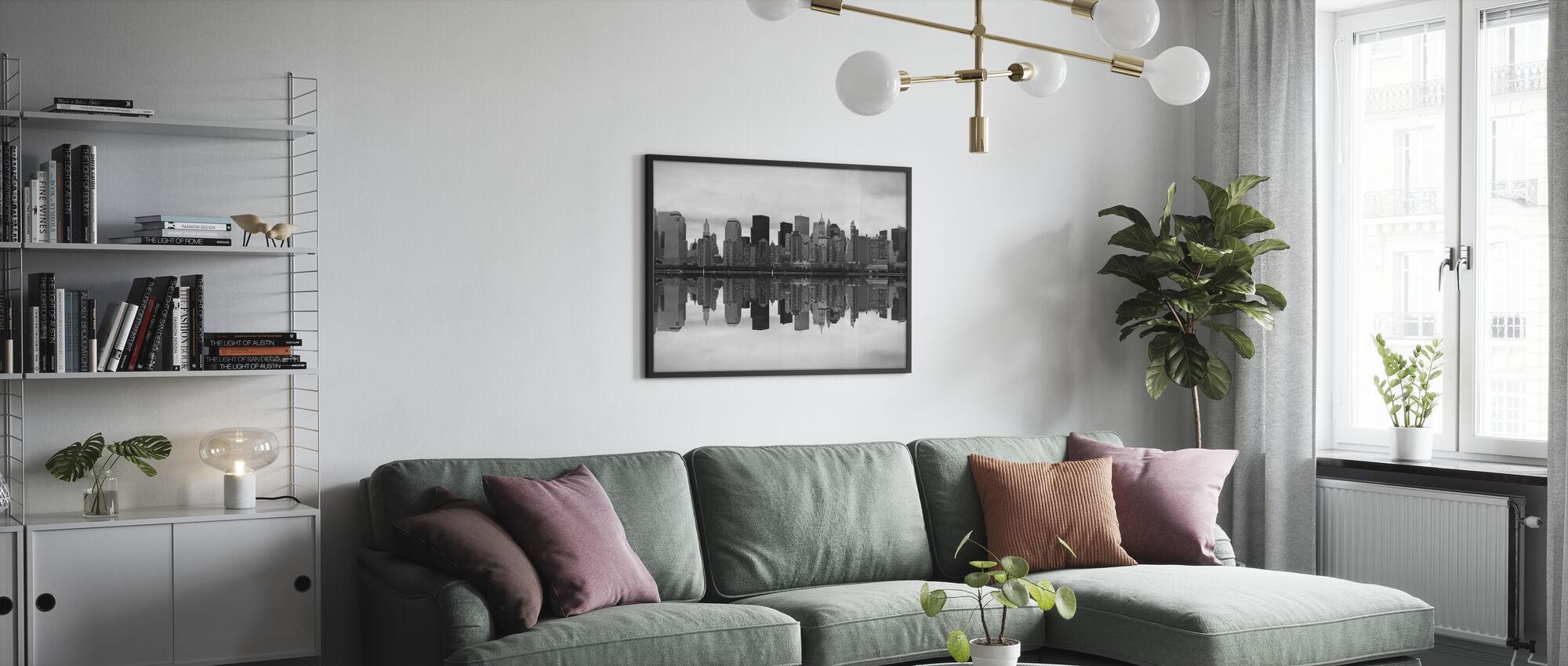 Manhattan - Ingelijste print - Woonkamer