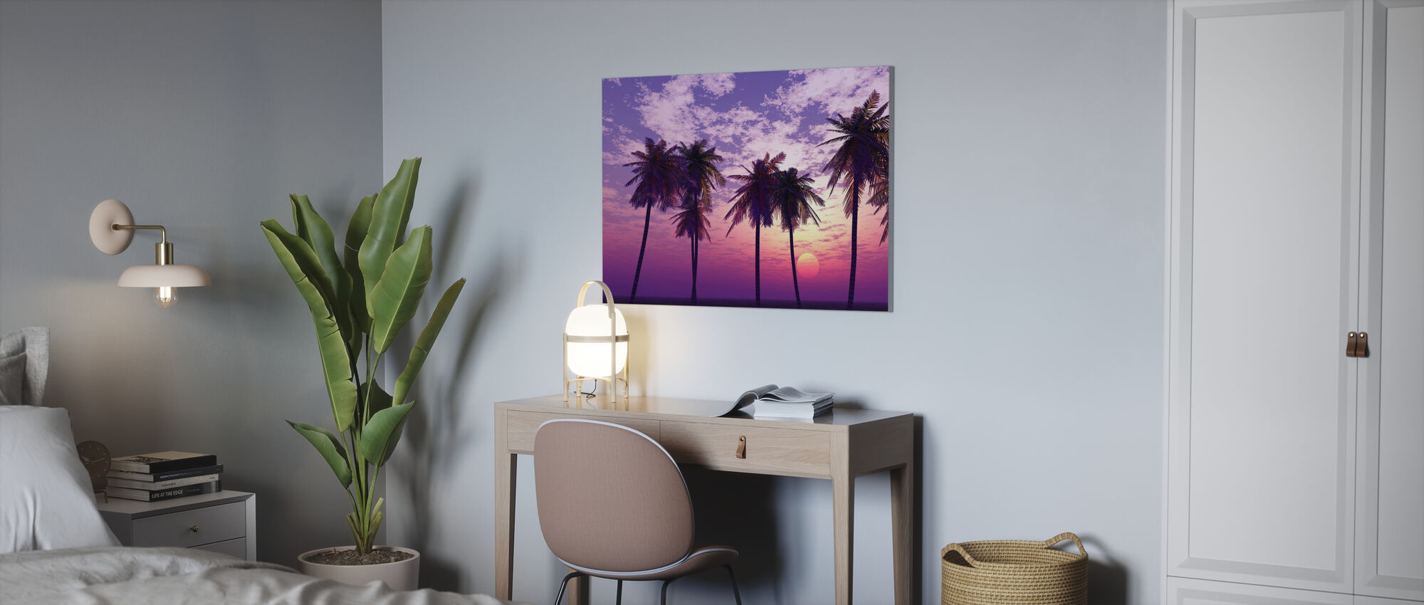 Beautiful Sunset - Canvas print - Office