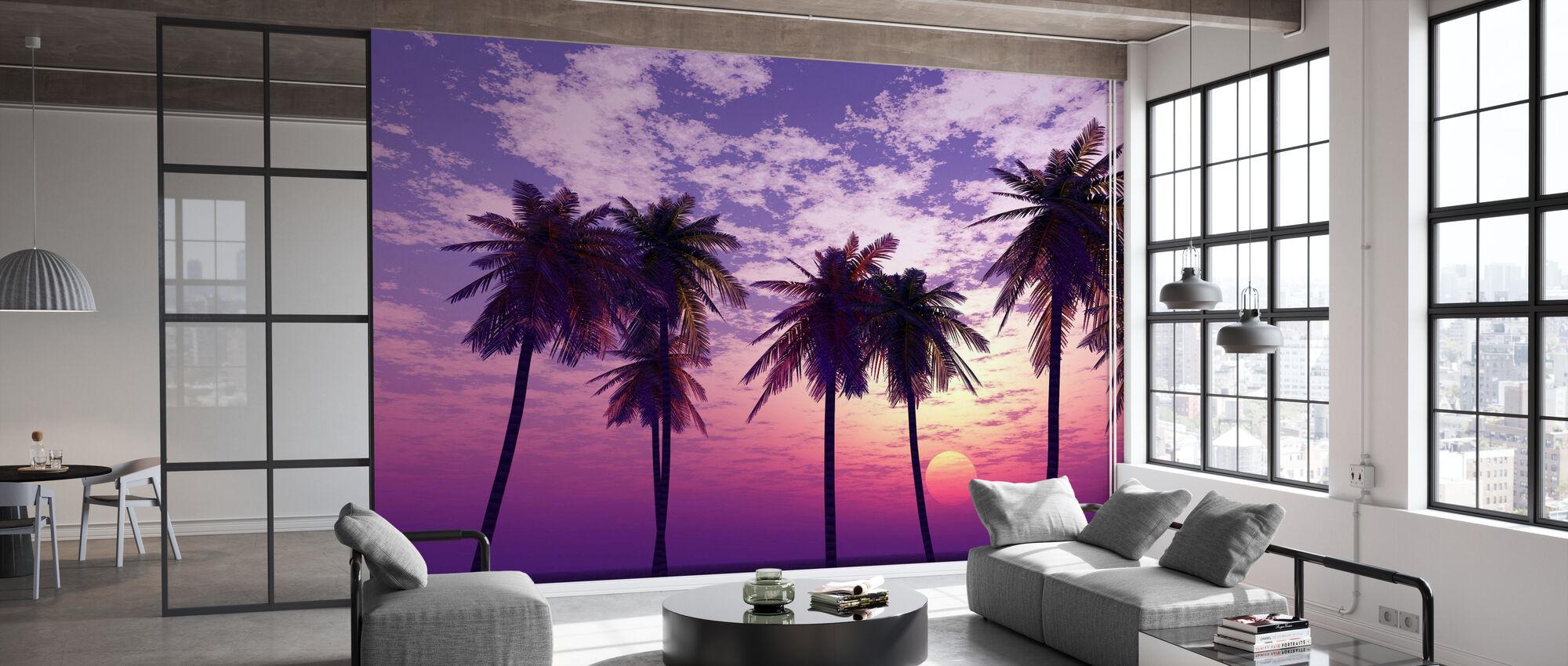 Prachtige zonsondergang - Behang - Kantoor