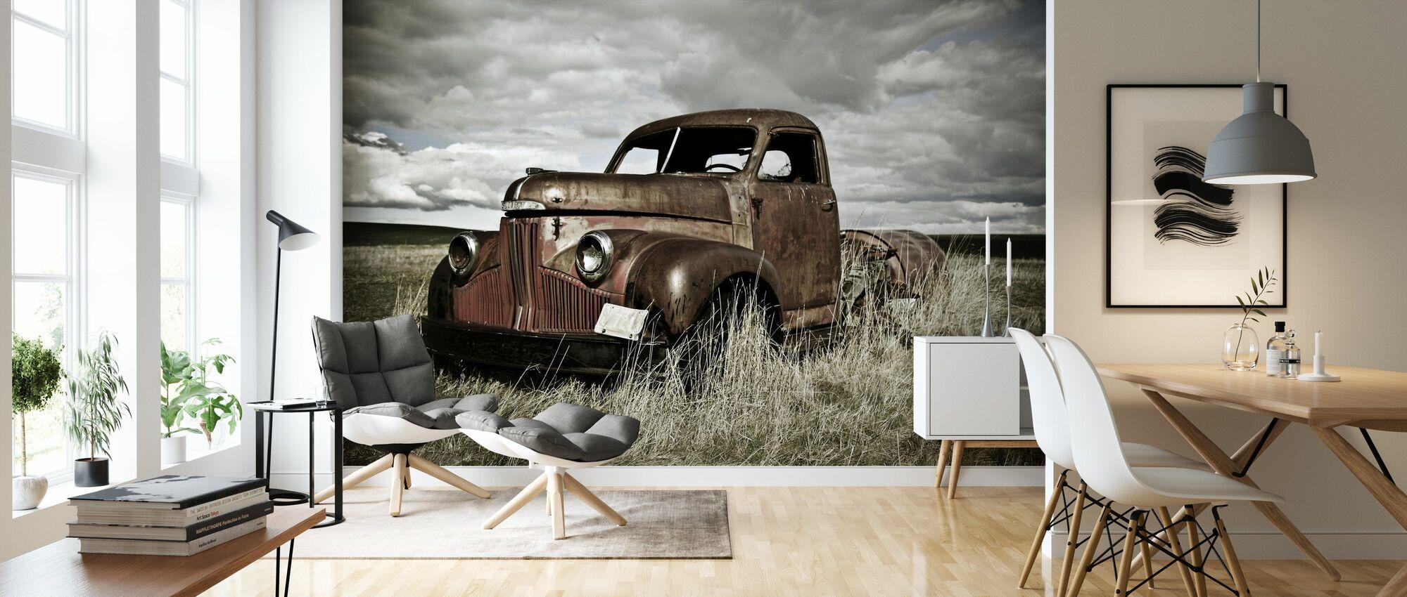Alt Truck Out auf dem Feld - Tapete - Wohnzimmer