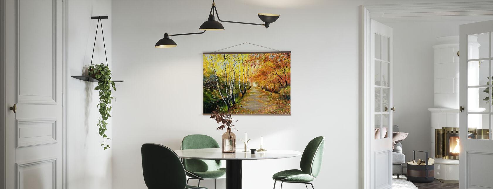 Route d'automne le long de la Manche - Affiche - Cuisine