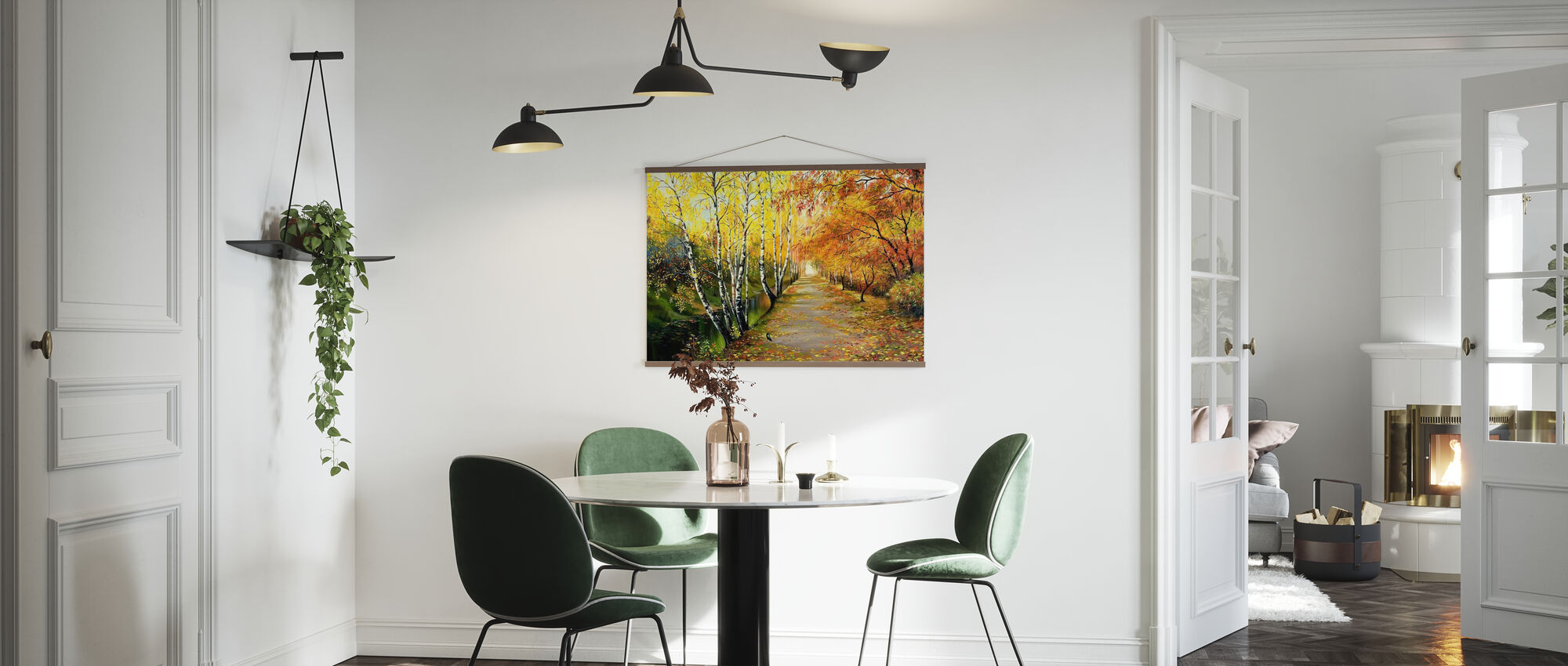 Autumn Road Along the Channel - Poster - Kitchen