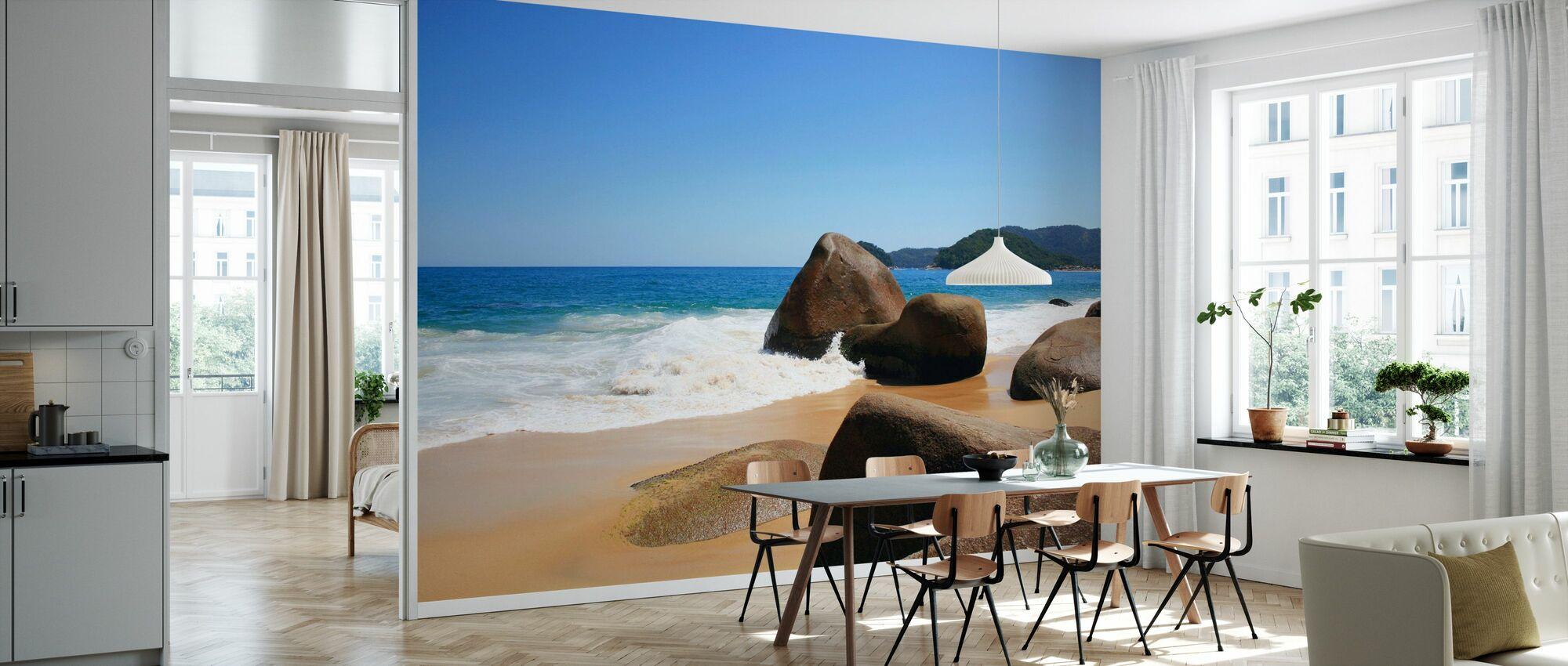 Belle plage au Brésil - Papier peint - Cuisine