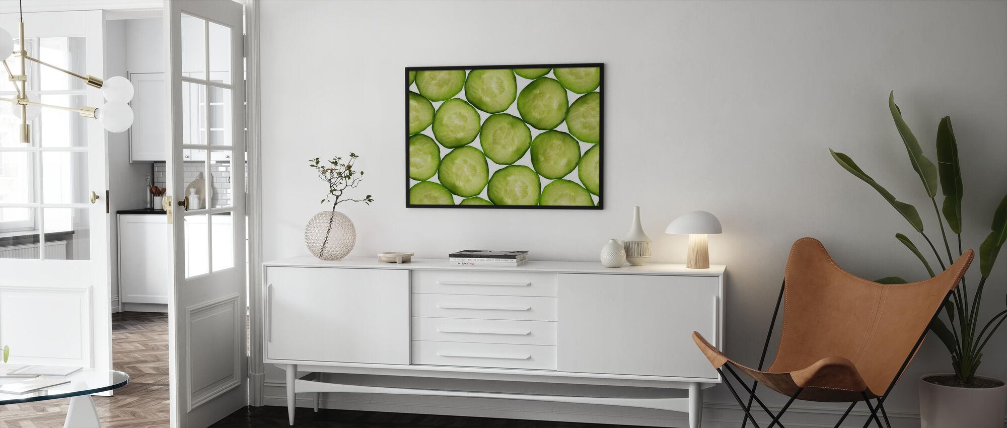 Gurkenscheiben - Poster - Wohnzimmer