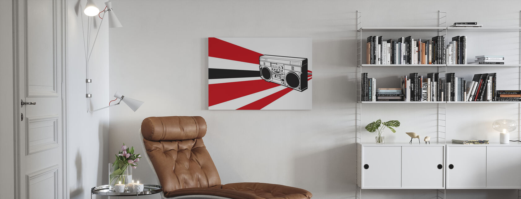 Stereo - Canvas print - Living Room