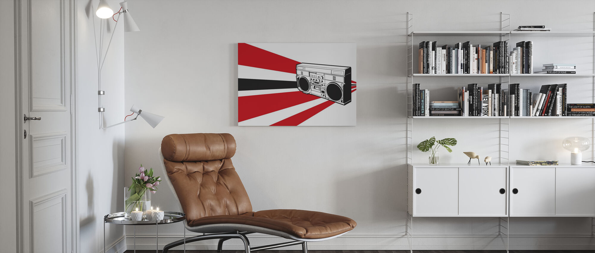 Stereo - Canvas print - Woonkamer