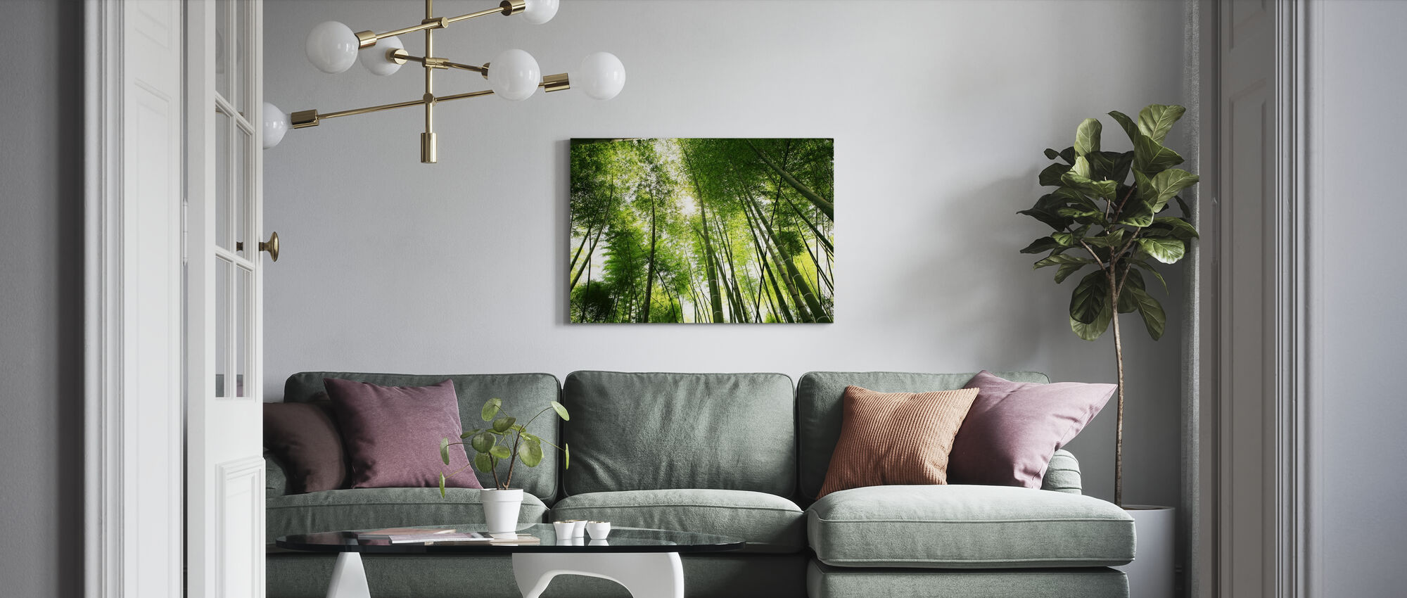 Mighty Bamboo - Canvas print - Living Room
