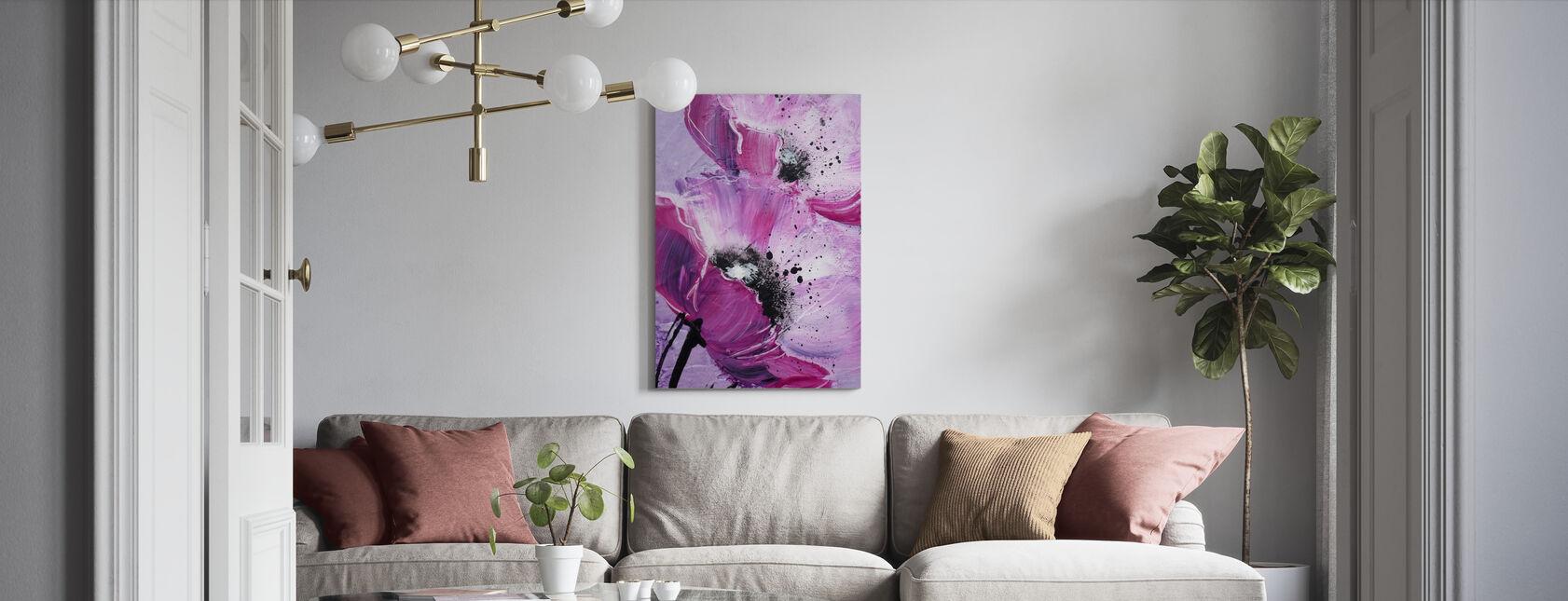 Violet Coquelicot Harmonie - Impression sur toile - Salle à manger