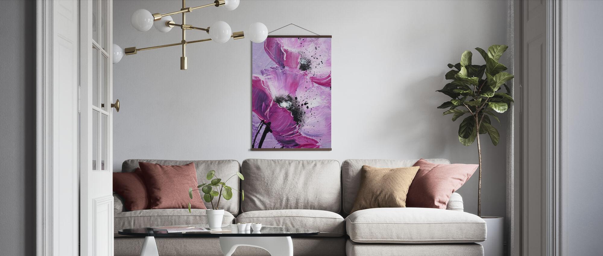 Violett Vallmo Harmony - Poster - Vardagsrum