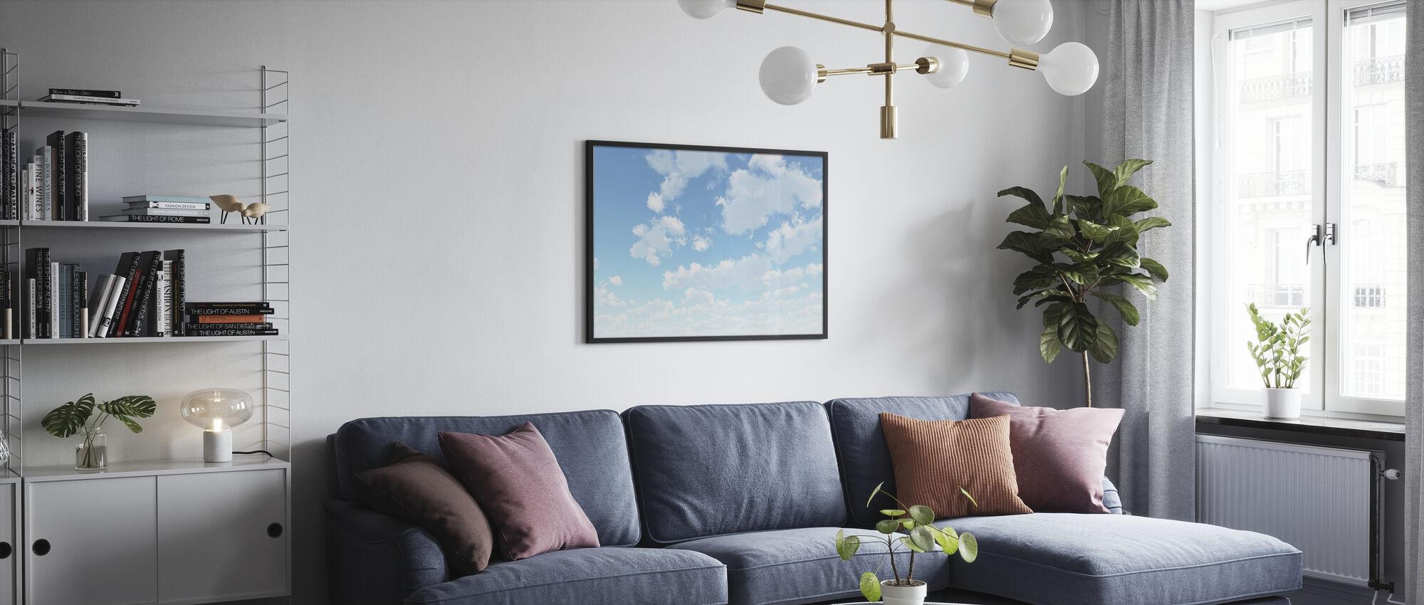 Wolkenlandschap - Ingelijste print - Woonkamer