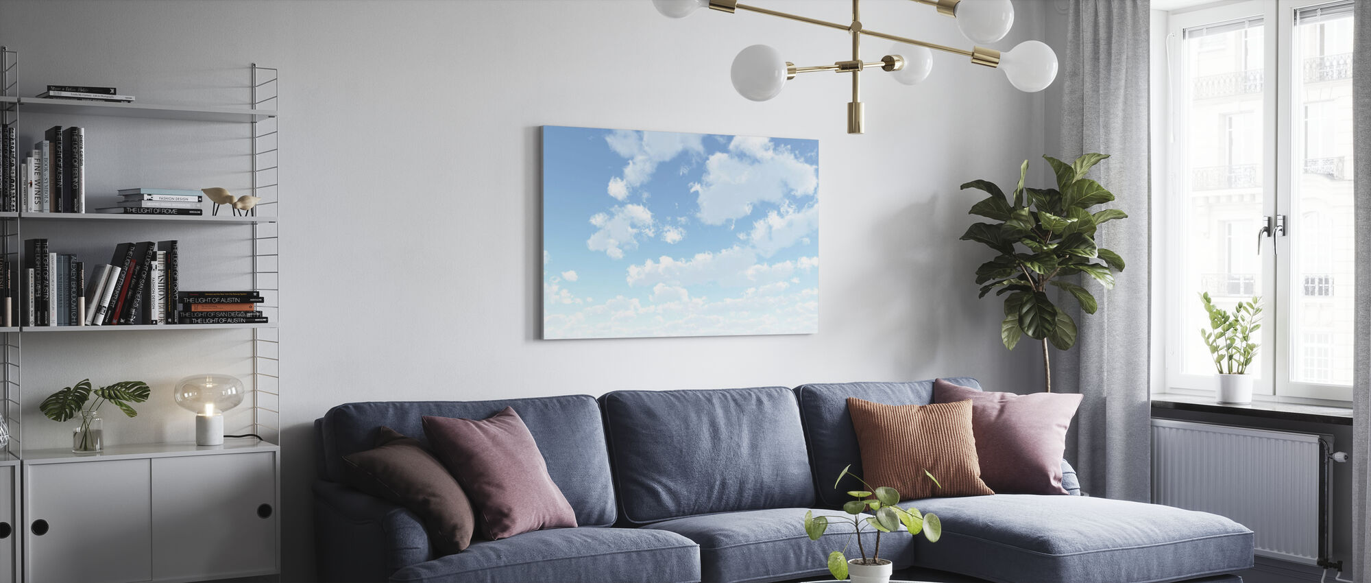 Wolkenlandschap - Canvas print - Woonkamer