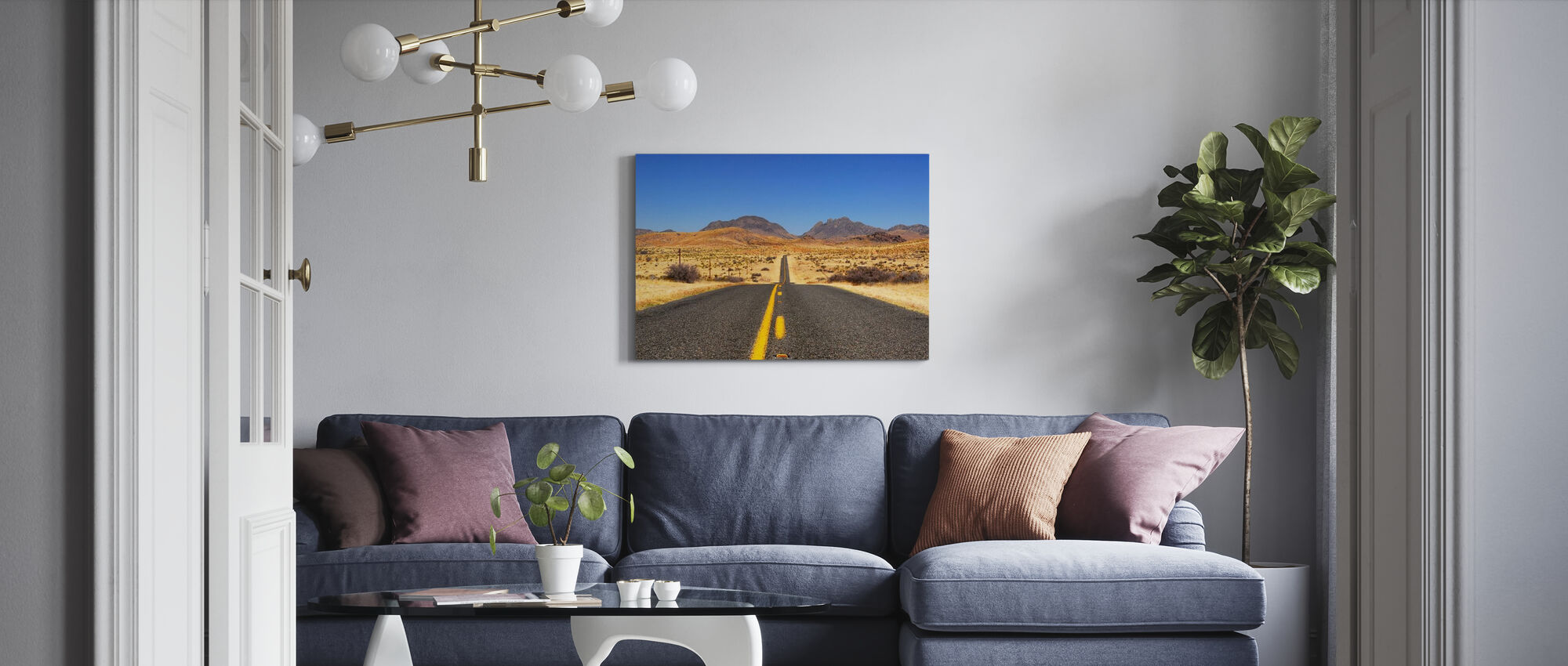 Lost Highway - Canvas print - Living Room