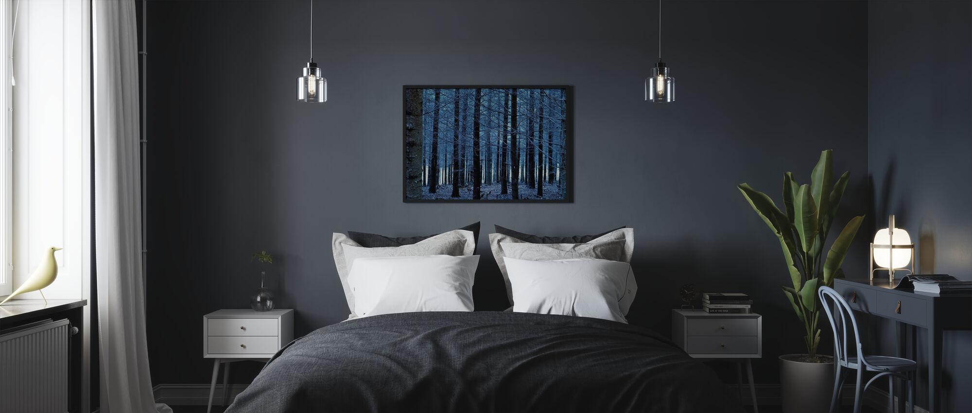 Blå Träd - Inramad tavla - Sovrum