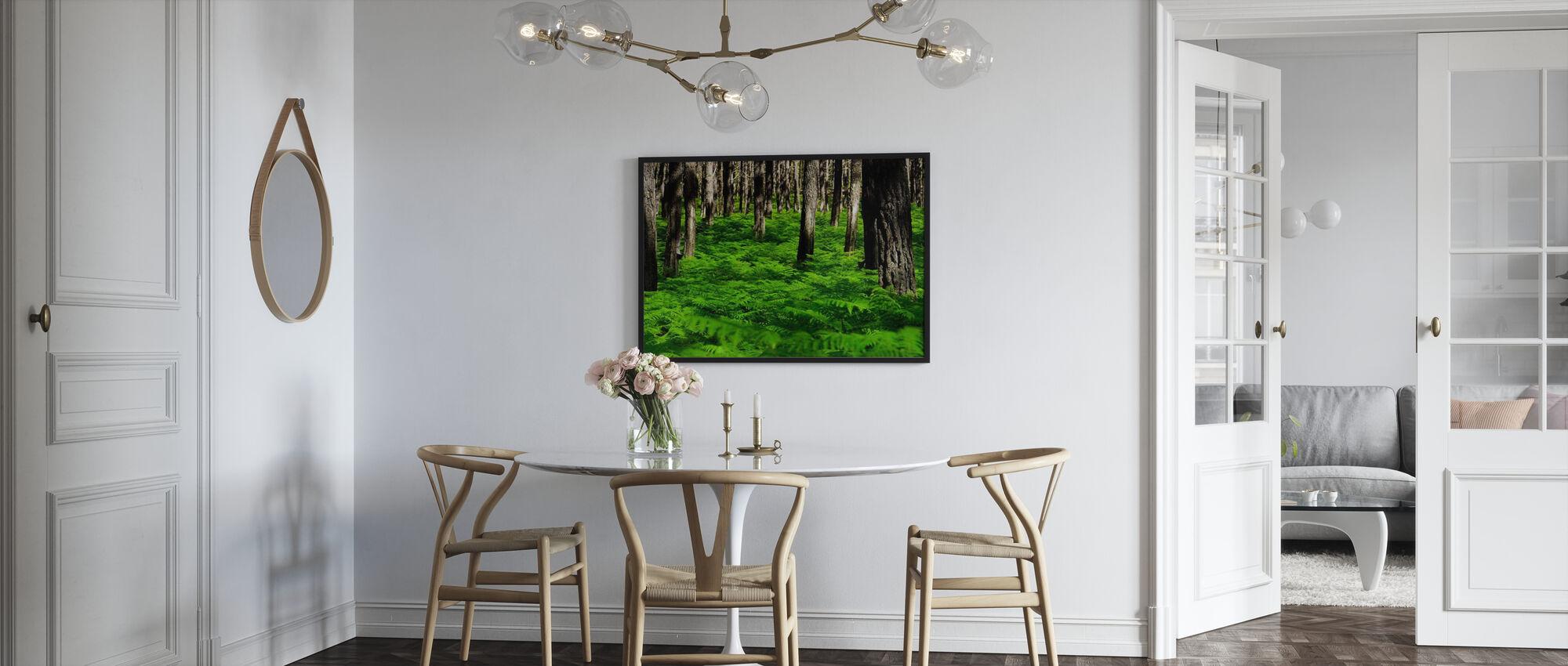 Vihreä Harmony - Kehystetty kuva - Keittiö