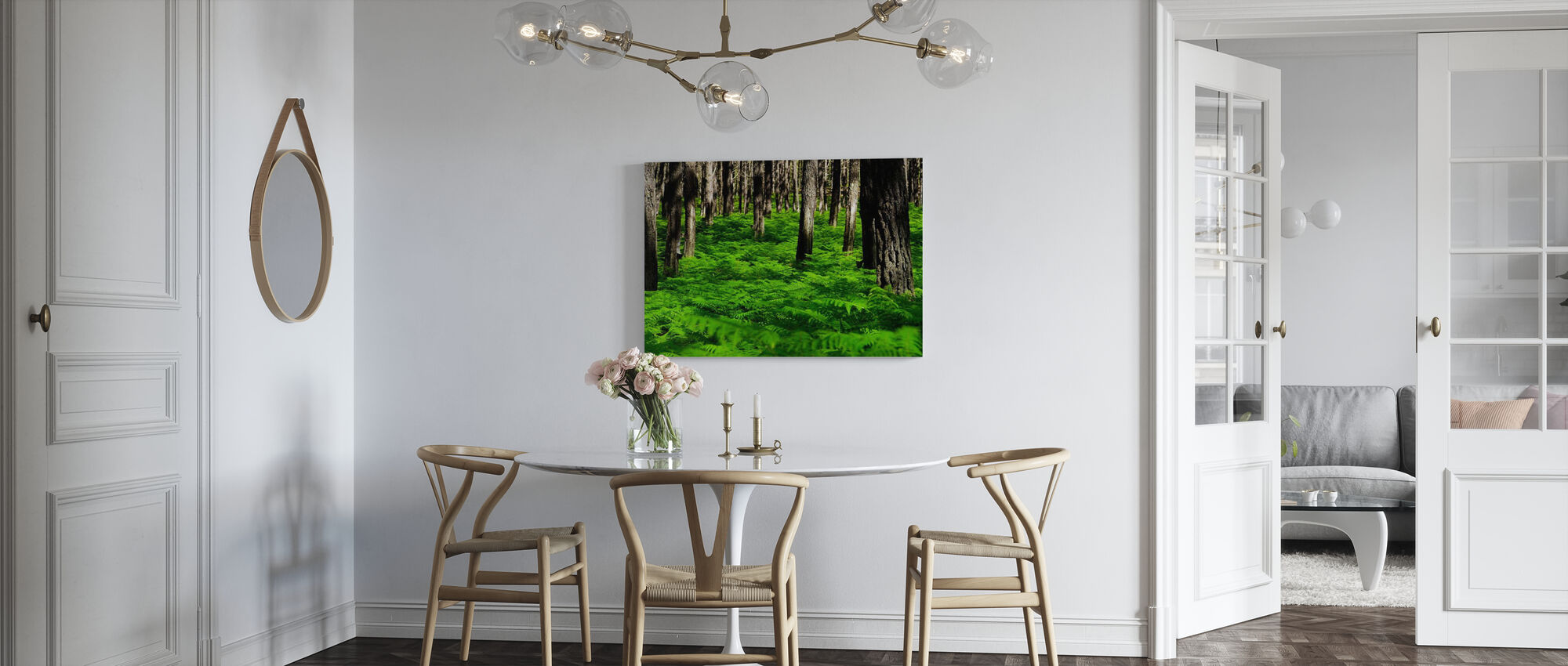 Green Harmony - Canvas print - Kitchen